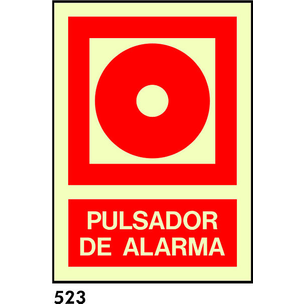 SEÑAL AL. FOTO A4 CAST R-523/C533 .PULSADOR.