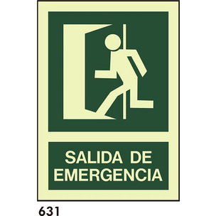 SEÑAL AL. FOTO A1 R-631 - SALIDA DE EMERGENCIAS