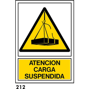 SEÑAL AL. NORM. A3 CAST. R-212 - CARGA SUSPENDIDA