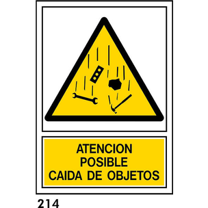 SEÑAL AL. NORM. A3 CAST. R-214 - CAIDA DE OBJETOS