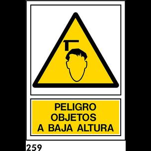 SEÑAL AL. NORM A3 CAST R-259 .OBJETO BAJA ALTURA.