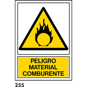 "SEÑAL AL. NORM A4 CAT R-255 - ""COMBURENT"""