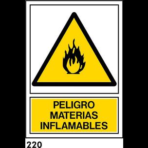 SEÑAL AL. NORM. A4 CAT. R-220 - MATERIES INFLAMABL