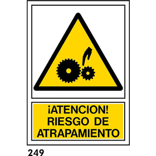 SEÑAL AL. NORM A4 CAT R-249 .RISC D.ATRAPAMENT.