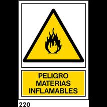 SEÑAL AL. NORM. A4 CAST. R-220 - MATERIAS INFLAMAB