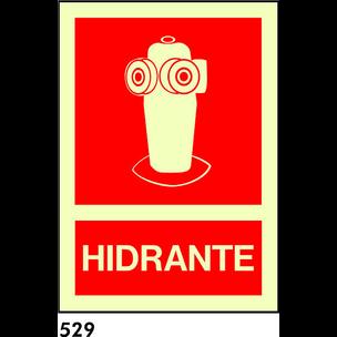 SEÑAL AL. FOTO BANDEROLA A4 R-529/C536 .HIDRANTE.