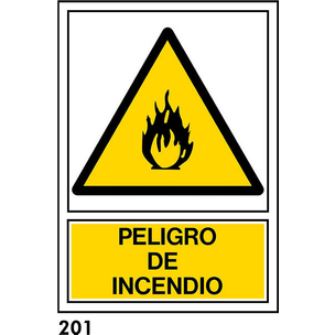 SEÑAL AL. NORM. 21X21 R-201 S/TEXTO - PELIGRO INCE