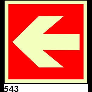 SEÑAL AL. NORM 297X297 R-543 - FLECHA