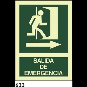 SEÑAL AL. FOTO BANDEROLA A4 R-633 - SALIDA DE EMER