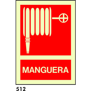 SEÑAL PVC FOTO TRIANGULO A4 CAST R-512 - MANGUERA