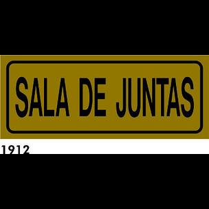 SEÑAL AL. DORADO 21X8.5 CAST R-1912 - SALA DE JUNT