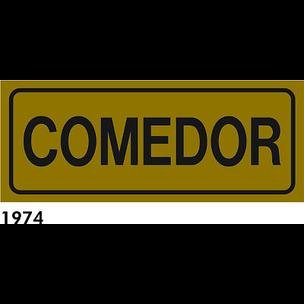 SEÑAL AL. DORADO 21X7 CAST R-1974 - COMEDOR
