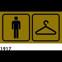 SEÑAL AL. BEIG 170X85 R-1917 - HOMBRE + PERCHA