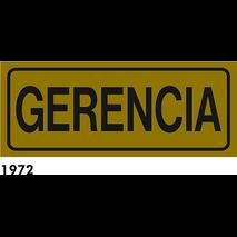 SEÑAL AL. DORADO 21X8.5 CAT R-1972 - GERENCIA