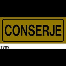 SEÑAL AL. DORADO 21X8.5 CAST R-1909 - .CONSERJE.