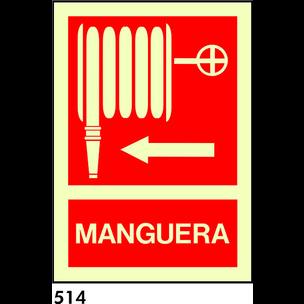 SEÑAL PVC FOTO 21X10.5 S/TEXTO R-514 - MANGUERA