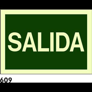 SEÑAL PVC FOTO 420X420 R-609 - SALIDA