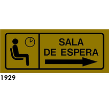 SEÑAL AL. GRIS R-1929 - .SALA DE ESPERA.