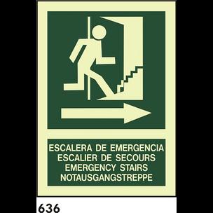 SEÑAL AL. FOTO A3 R-636 - ESCALERA DE EMERGENCIA