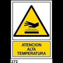 PEGATINA 12X8,5 CAST R-272 - .ATENCION ALTA TEMPER