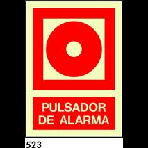 PEGATINA 10X8.5 CAT R-523 - .POLSADOR D.ALARMA.