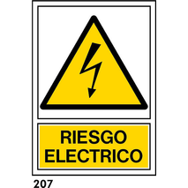 PEGATINA 12X8.5 CAT R-207 - ATENCIO 380V