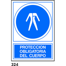 PEGATINA 12X8.5 CAT. R-324 - OBLIGATORI PROT COS