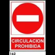 PEGATINA DIRECCION PROHIBIDA 25x25 REF.162