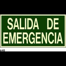 PEGATINA 21X9.5 - SORTIDA D.EMERGENCIA