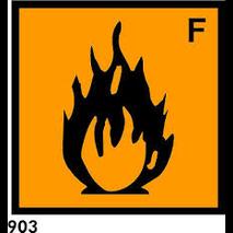 PEGATINA RIESGO R-903 - .INFLAMABLES.